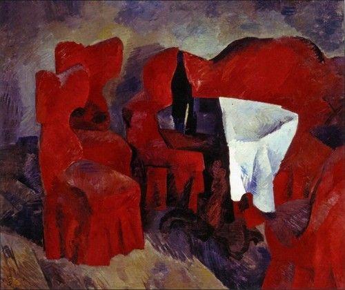 Роберт Рафаилович Фальк - Красная мебель. 1920. Третьяковская галерея, Москва