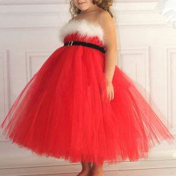 Stylish Strapless Spliced Ball Gown Full Dress For Girls  Sammydress.com $9.86!!