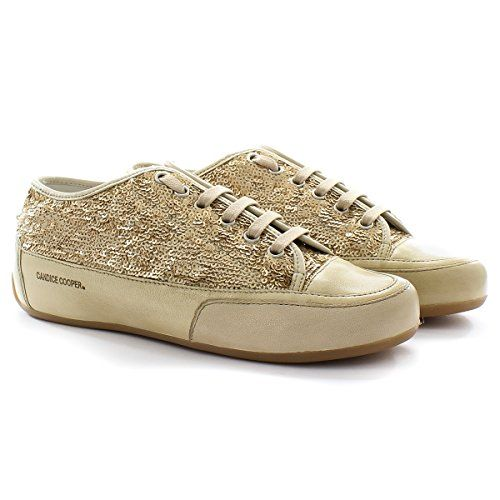 Candice Cooper Sneaker Wanda Rock.Bord Paillettes Platino Gold 37 - http://on-line-kaufen.de/candice-cooper/37-eu-candice-cooper-sneaker-wanda-rock-bord-gold
