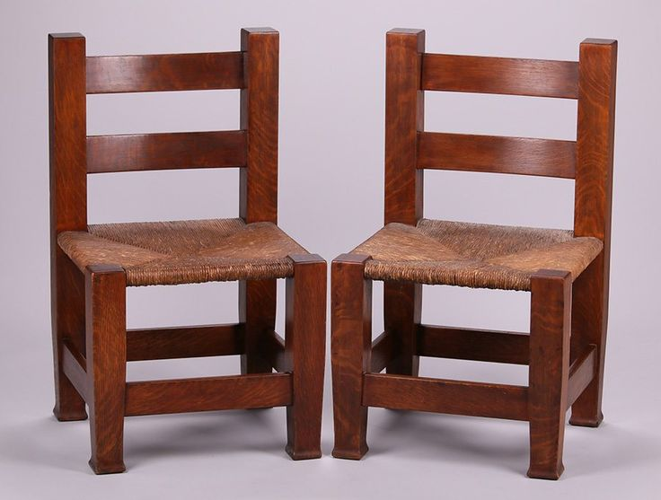 Pair Of Early Michigan Chair Co U2013 Bernard Maybeck Designed Side Chairs  C1898. Designed By