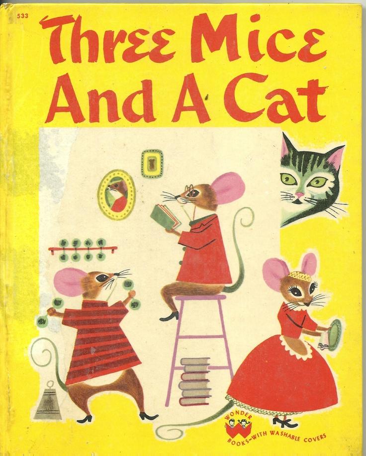 1950 wonder book three mice and a cat ebay book