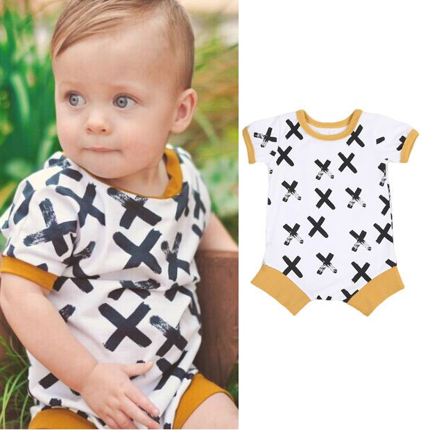US Stock Newborn Baby Boy Clothes Bodysuit Romper Jumpsuit Bodysuit Outfit 0-24M #Unbrand #Everyday