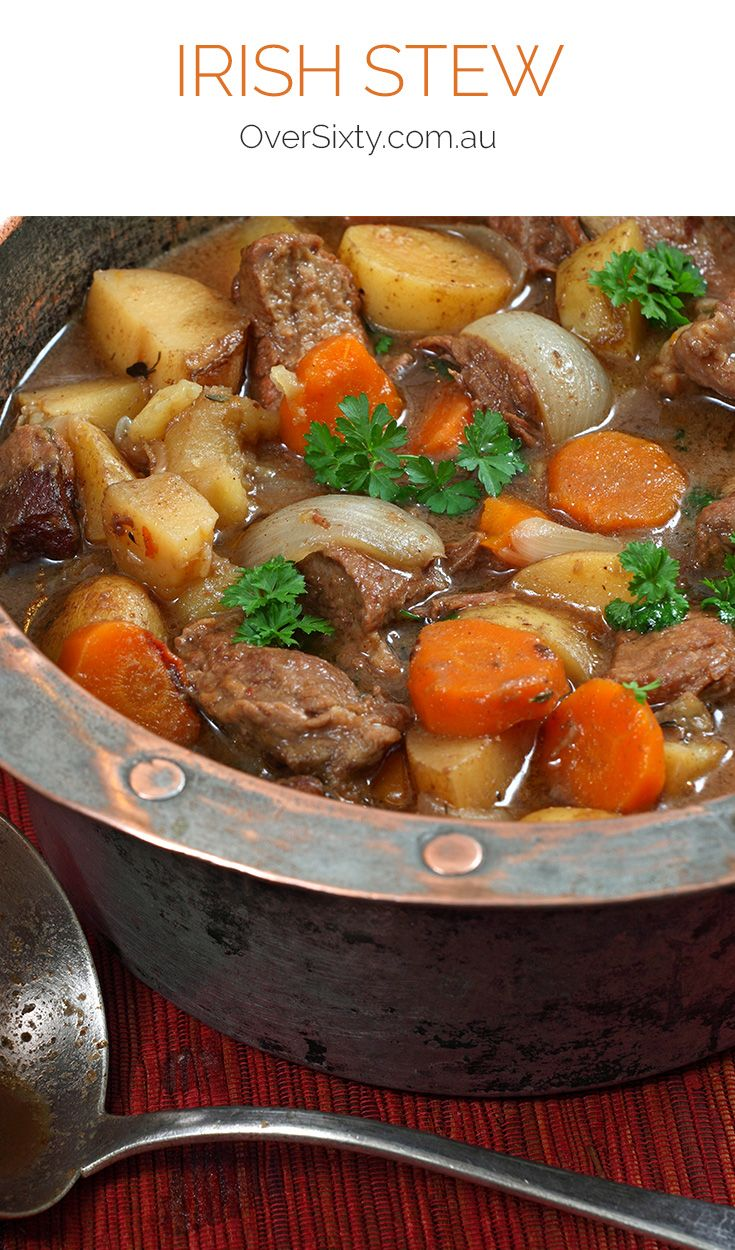 Irish Stew - For a healthy and delicious dinner option you can't go past this tasty lamb and vegetable Irish stew.
