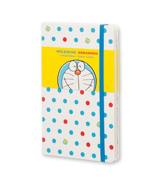 MOLESKINE X DORAEMON Limited Edition Collection: A special tie-up to celebrate Doraemon's 45th anniversary!Set off on your everyday adventures with Japanese manga icon Doraemon. Whether you're being creative or travelling back in time the heroic character will come with you, just like in the stories.