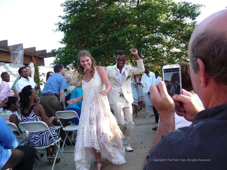 At the Reggae Music Dancing Garden Wedding...so cool~
