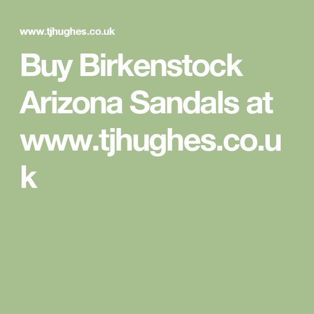 Buy Birkenstock Arizona Sandals at www.tjhughes.co.uk