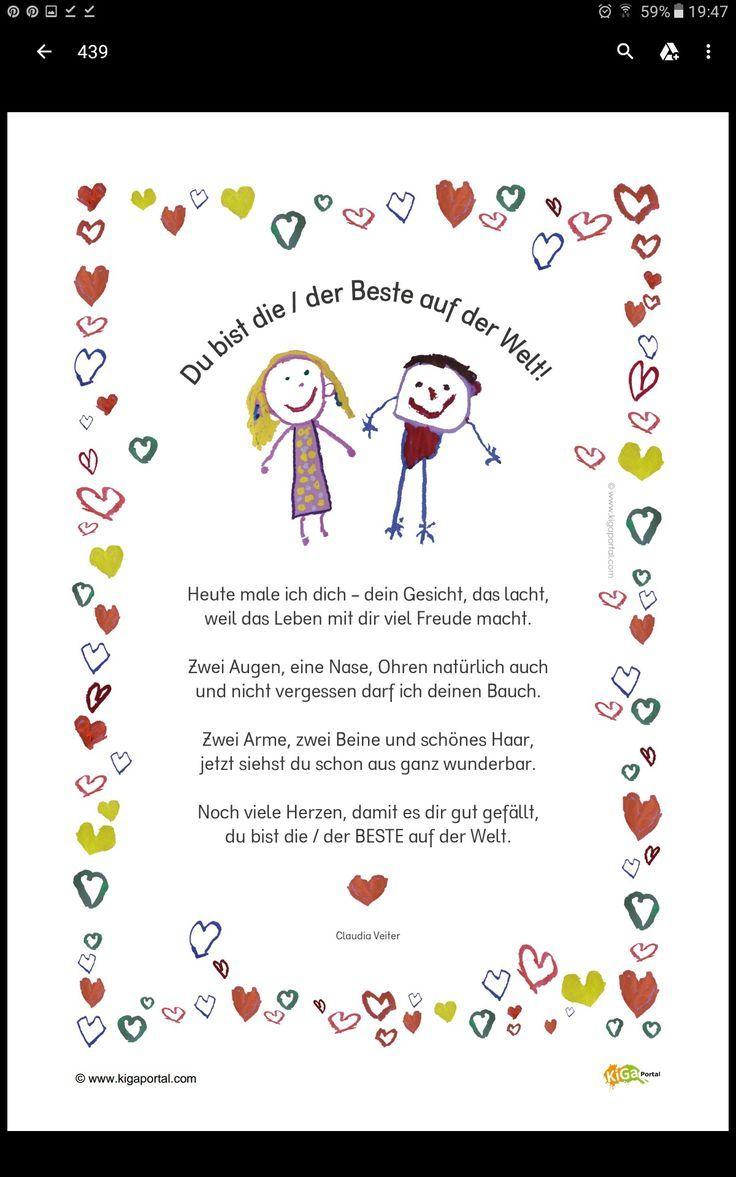 Gedicht für Mutter/Vatertag Muttertag Geschenk, Ideen zum Basteln mit Kindern
