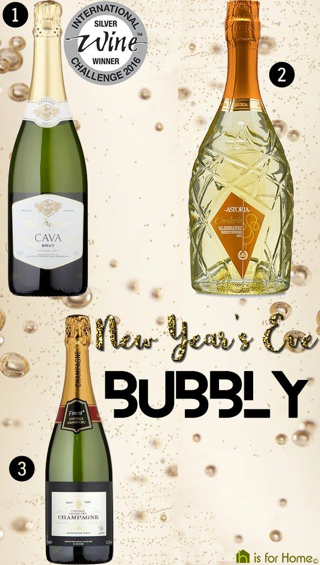 Selection of New Year's Eve bubbly | H is for Home