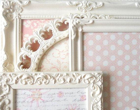shabby picture frame magnet boards:)