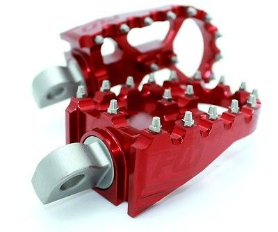 Flo Motorsports RED MX Style Footpegs - Harley Dyna Sportster Club Style BMX Peg