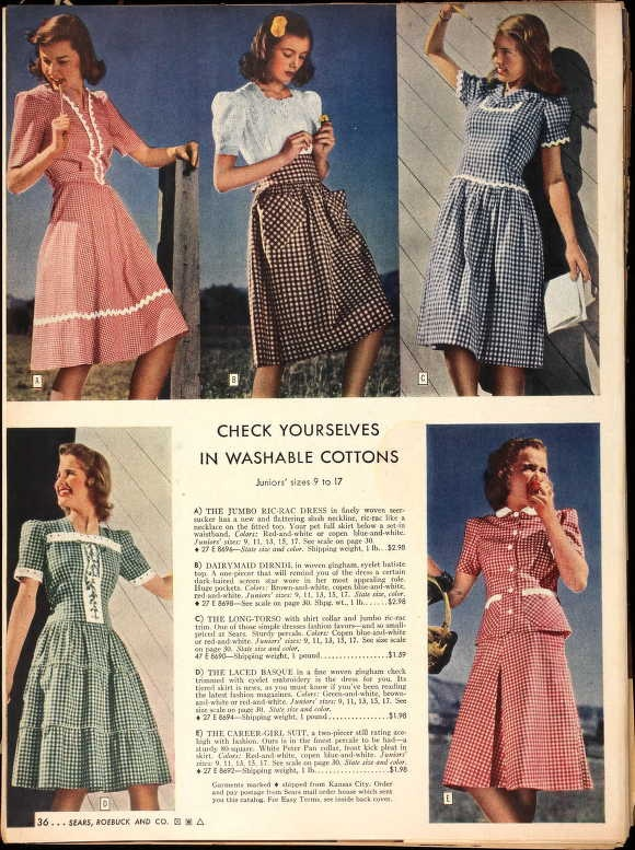 Historic Catalogs of Sears, Roebuck and Co., Spring 1943 (from Ancestry.com). #vintage #1940s #fashion