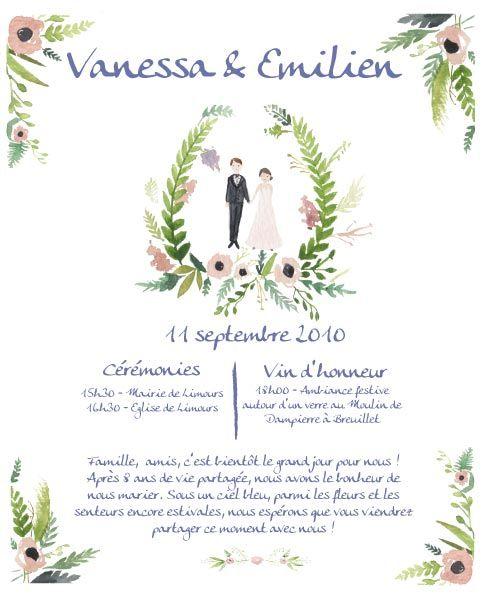 mariage avril idee mariage mariage champtre papier faire support papier faire part mariage texte de faire invitation aquarelle mariage boulo - Texte Faire Part Mariage Champetre