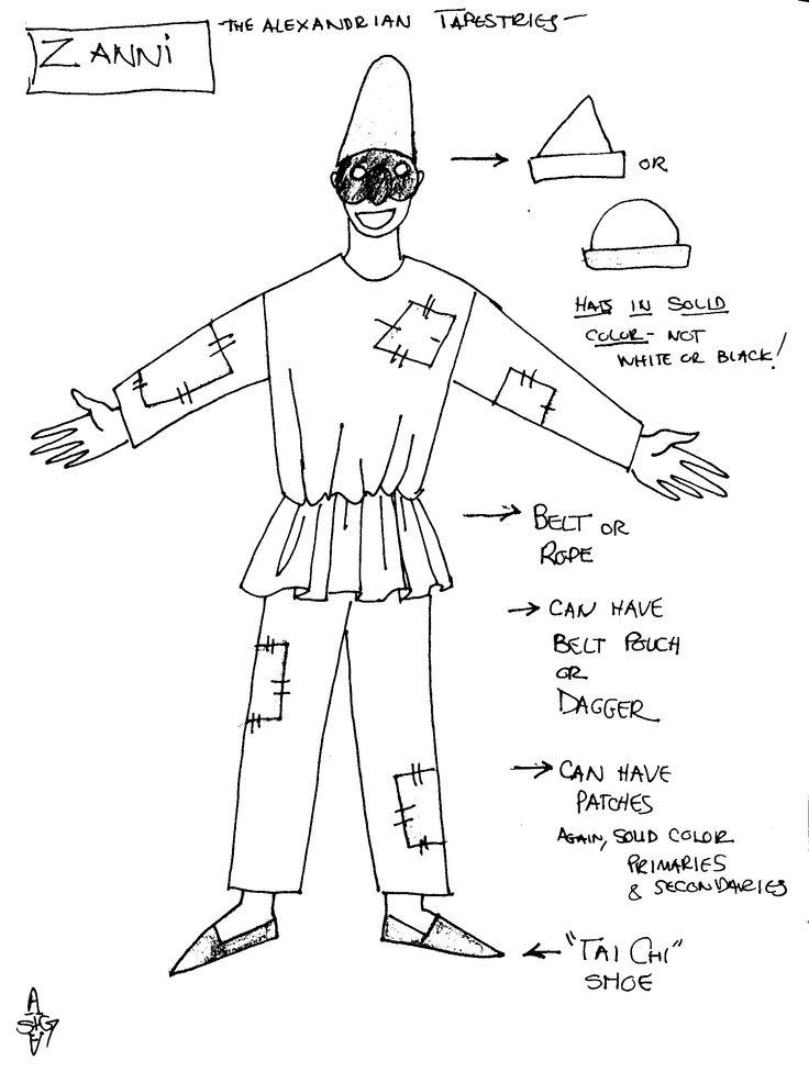 A generic zanni costume zanni is a clever male servant