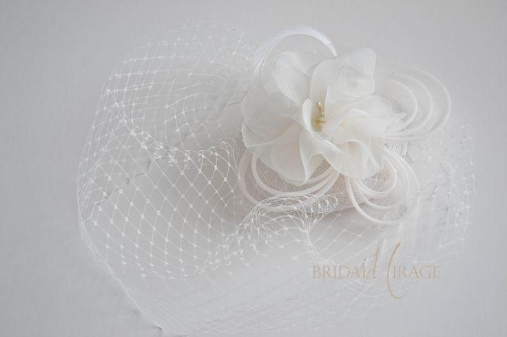 Without birdcage veil with flower beads || birdcage fátyol virággal gyöngy nélkül