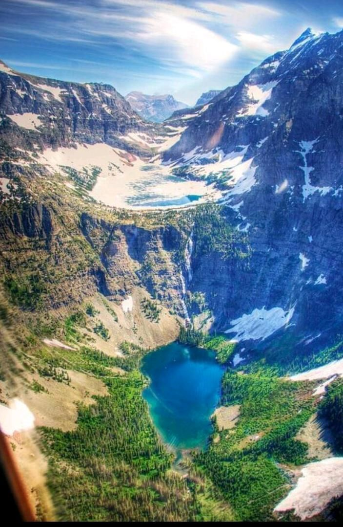 Glacier national park view from a helicopter. | National ...
