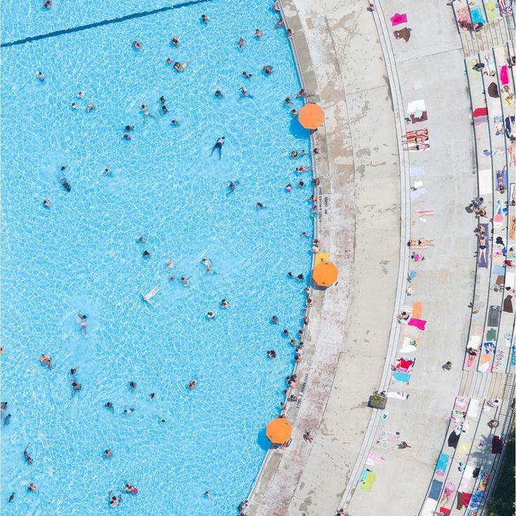 Photo by Tobias Hutzler. #pool #drone #aerial #swimmingpool #landscape #minimalism