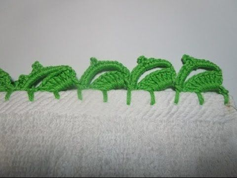 Crochet Uncinetto Strofinacci -asciugapiatti asciugamani bordo lavorato a uncinetto - YouTube