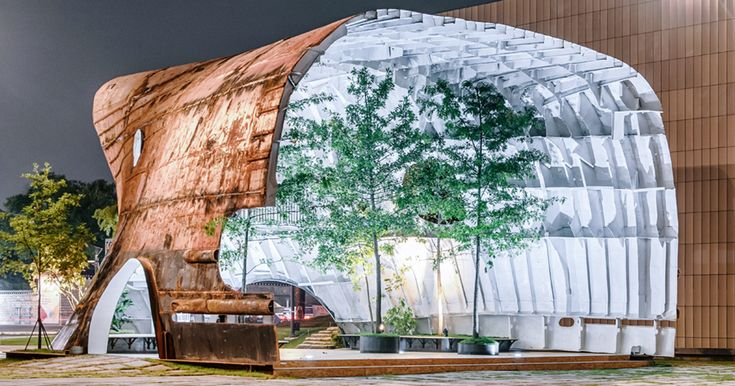 Old Rusty Ship Turned Into Stunning Building With Trees And Plants | Bored Panda