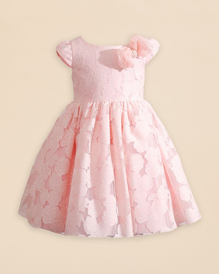 Kleinfeld Pink Girls' Charlotte Floral Dress - Sizes 2T-4T | Bloomingdale's