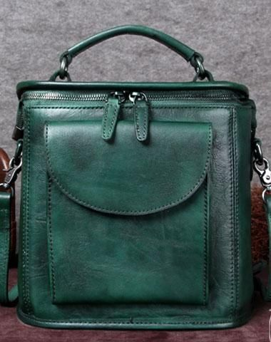 Genuine Leather Handbag Vintage Satchel Bag Shoulder Bag Crossbody Bag Purse For Women #FashionStylesforWomen