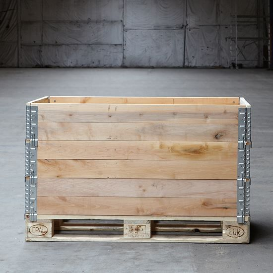 Fabriksny palleramme 800 x 1200 x 195 mm varmebehandlet iht IPPC