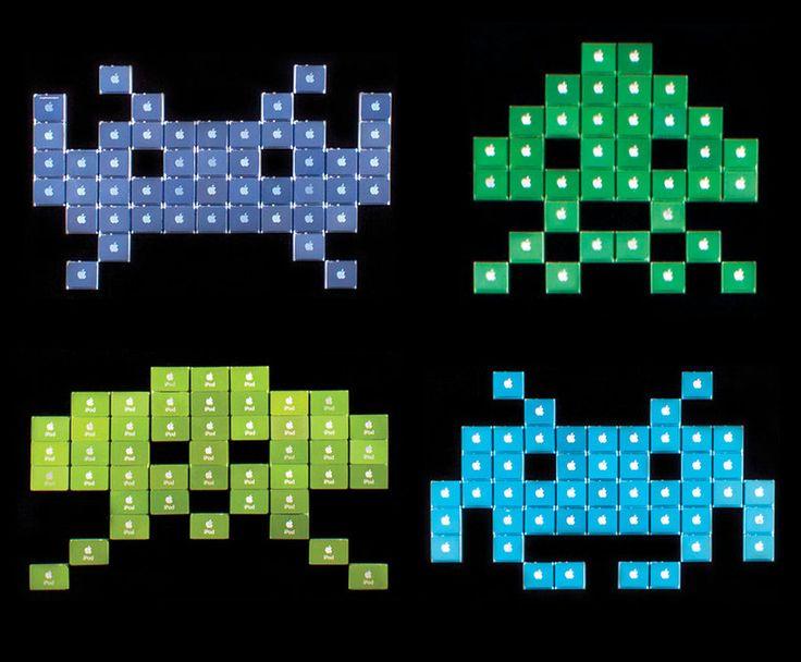 jeff grady recycles ipod nanos into 8-bit art for pixel perfect - designboom | architecture & design magazine
