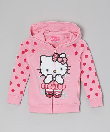 Take a look at this Paris Pink Polka Dot Zip-Up Hoodie -  Girls by Beautees on #zulily today!