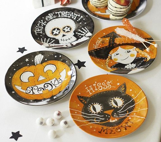 Halloween Plate Set | Pottery Barn Kids