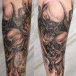 Skull Arm Sleeve Tattoos