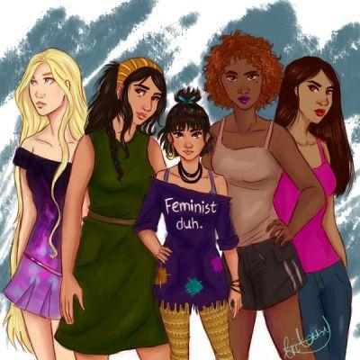 Persephone, Maura, Blue, Calla and Orla