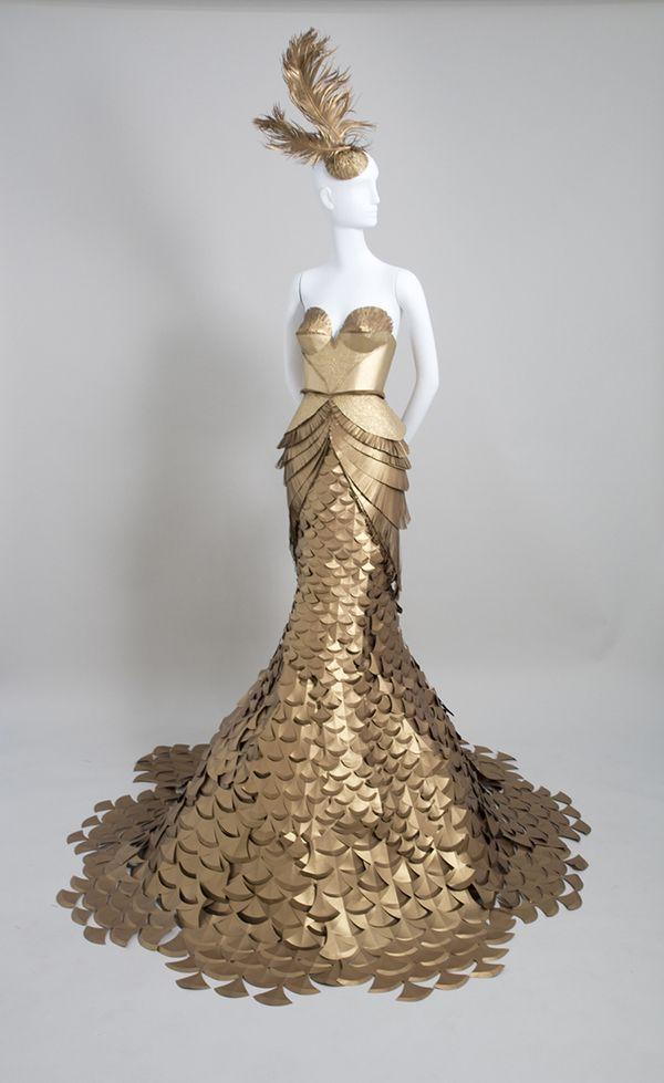 paper dress by burke & pryde