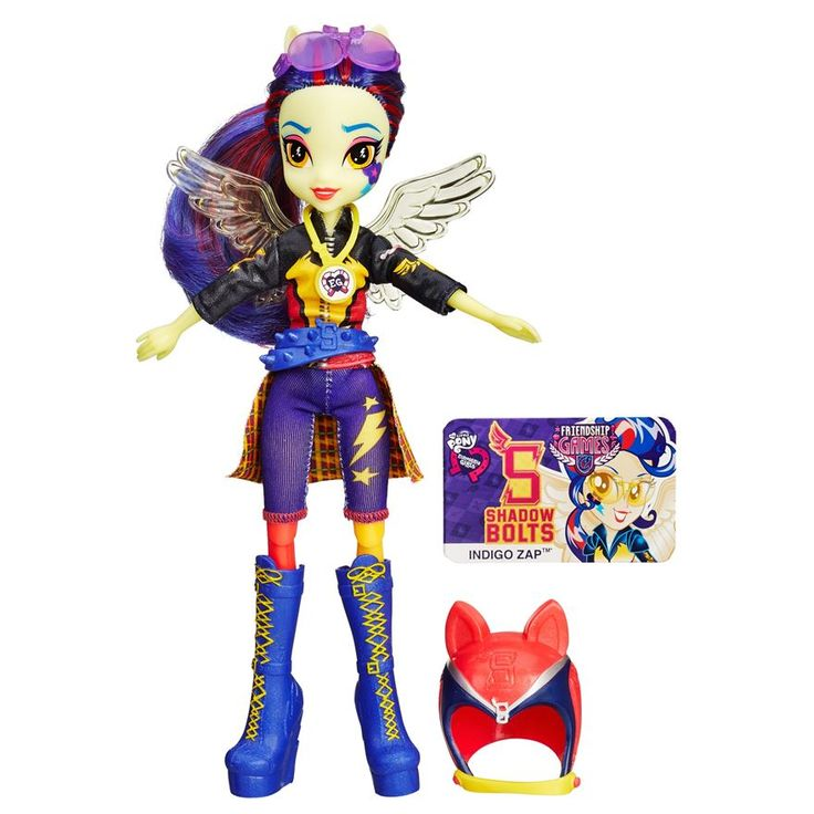 MLP My Little Pony Equestria Girls Friendship Games Indigo Zap Sporty Style Deluxe doll