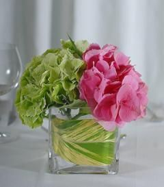 Simple centerpieces...but in my lighter shades and with some white mixed in, too.