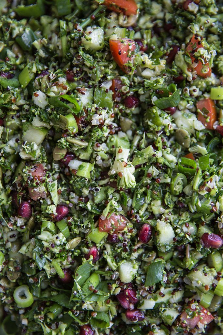 10-Minute Vegan Raw Broccoli Tabouli