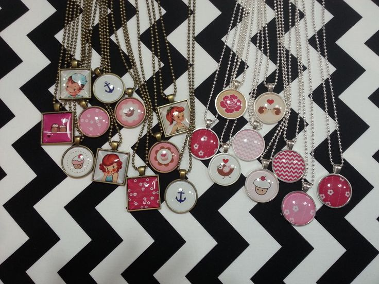 One inch pendant necklaces.