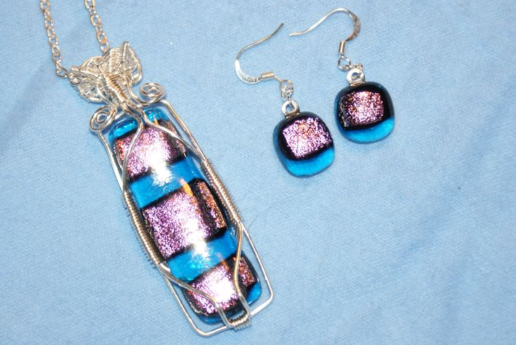 Dichroic Glass wire wrapped