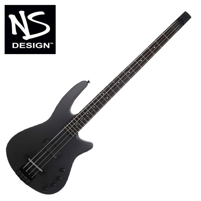 NS Design Radius WAV4 BG-MEBK Headless Bass Guitar Ned Steinberger Ebony EMG #NSDesign