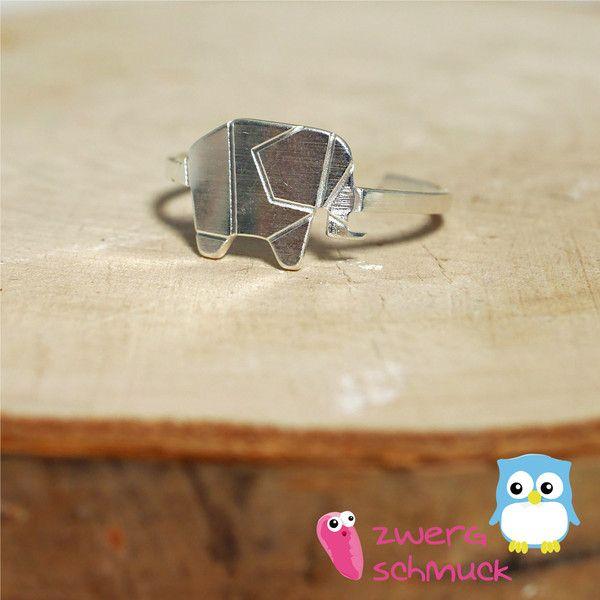 Ringe - Elefanten - Ring ✮ größenverstellbar ✮  Edelstahl - ein Designerstück von zwergschmuck bei DaWanda