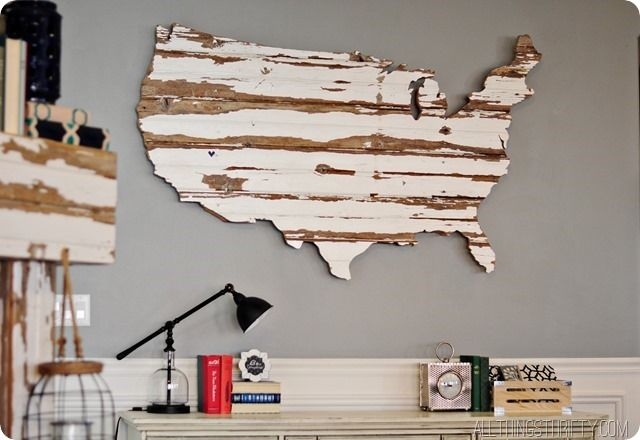 How amazing is this DIY wooden US map? I love it!