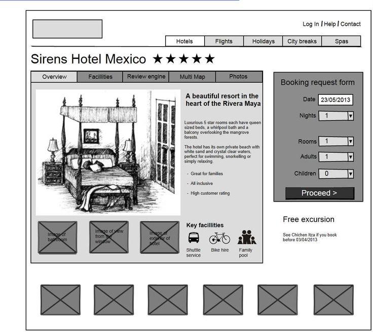 68 best Best wireframes done in Mockup Builder images on Pinterest - free reservation forms
