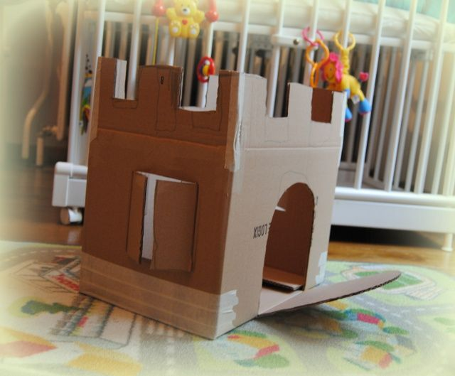 craft activity - a castle from a cardboard box