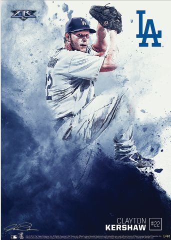 "Topps newest online exclusive creation is called ""Fire"" and it's an art print measuring 10""x14"" and numbered for only #/49 copies. Clayton Kershaw and Yasil Puig prints are available."