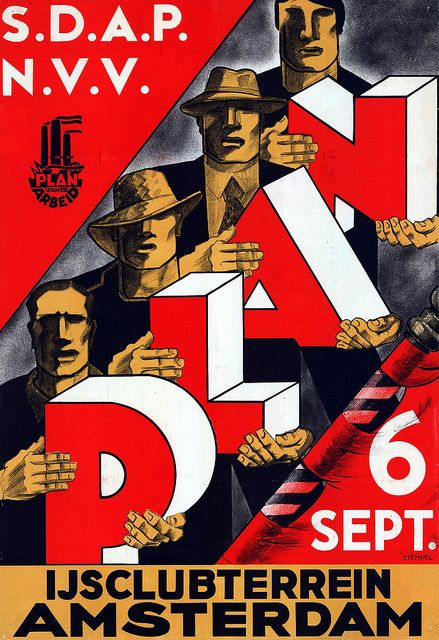 Social Democratic Workers' Party, Election Poster, Netherlands, 1935