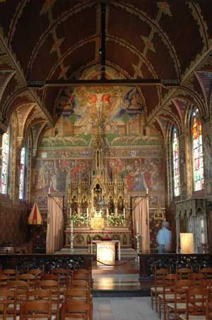 The Basilica of the Holy Blood, Catholic minor basilica in Belgium. houses a venerated relic of Christ: his very blood, collected by Joseph of Arimathea.