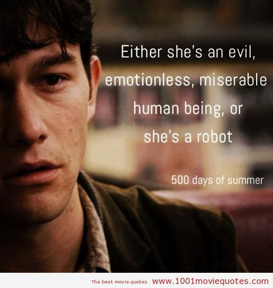 Quotes About Love From 500 Days Of Summer : 500 days of summer days of the year sad quotes movie quotes quote ...