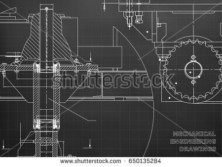 Blueprints. Mechanical engineering drawings. Cover. Banner. Technical Design. Black. Grid  #bubushonok #art #bubushonokart #design #vector #shutterstock  #technical #engineering #drawing #blueprint   #technology #mechanism #draw #industry #construction #cad