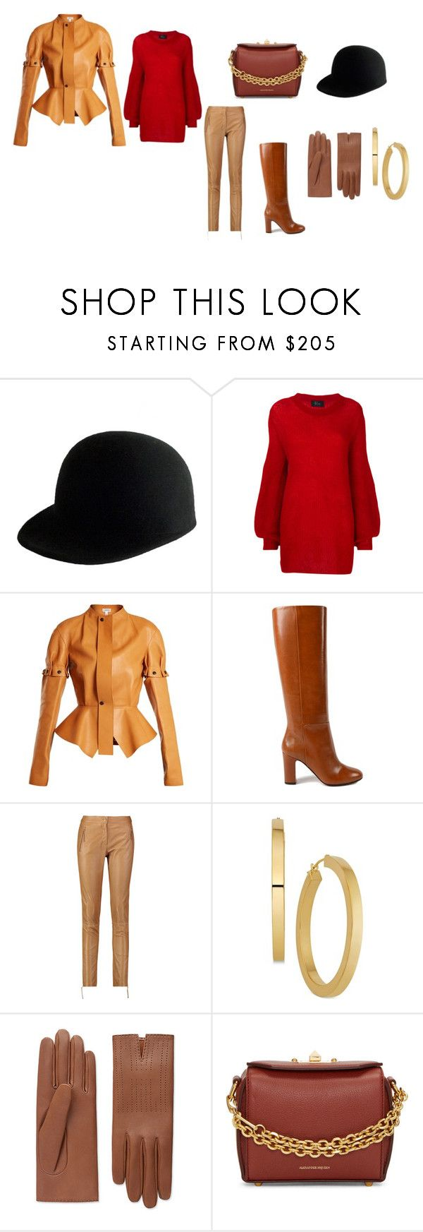 """Untitled #32"" by dadulla on Polyvore featuring Janessa Leone, Lost & Found, Loewe, Aquazzura, Roberto Cavalli and Alexander McQueen"