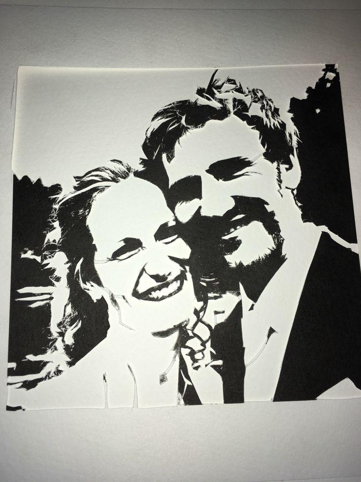 Handgemachter Scherenschnitt eines Hochzeitsfotos, perfektes Geschenk zum Hochzeitstag! von PapirKlippKompaniet auf Etsy https://www.etsy.com/de/listing/488287364/handgemachter-scherenschnitt-eines