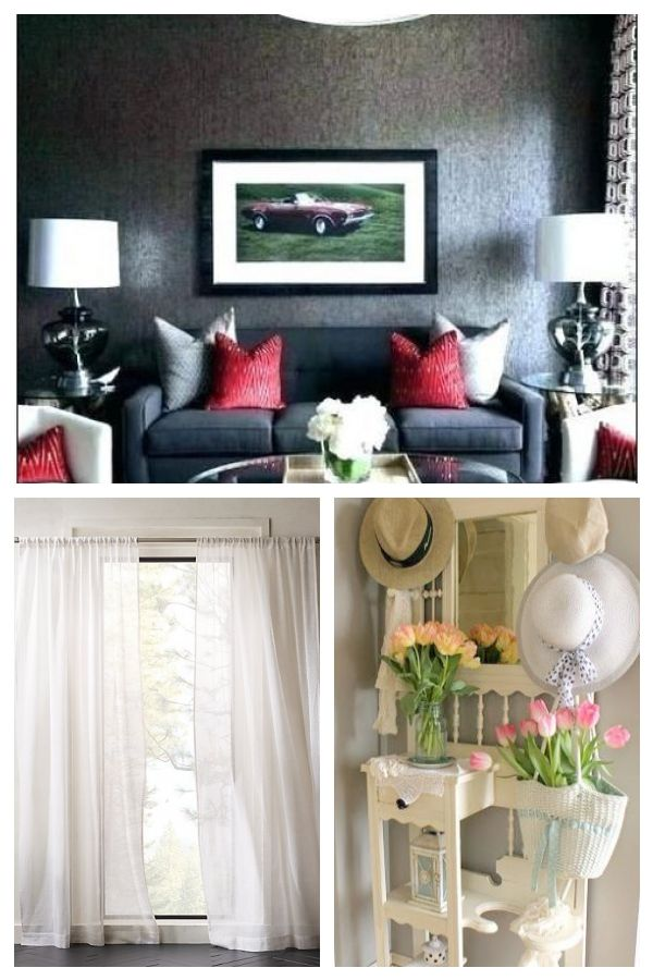25 Red Black And White Living Room Decorating Ideas 8 ...