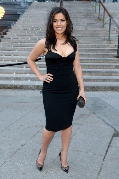 America Ferrera Actress America Ferrera  attends the Vanity Fair Party during the 2014 Tribeca Film Festival at the State Supreme Courthouse...